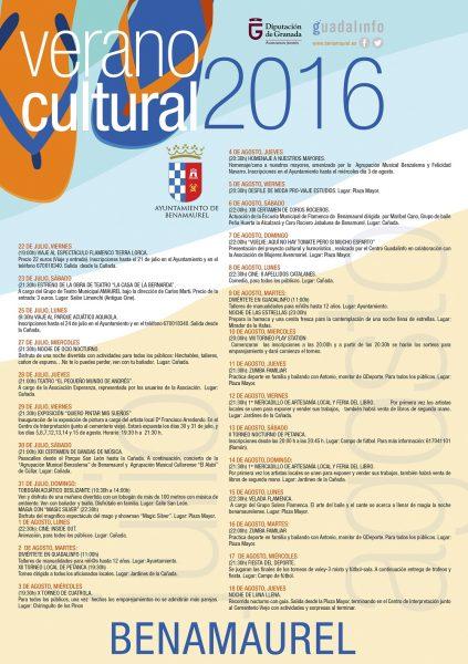 Cartel Verano Benamaurel 2016