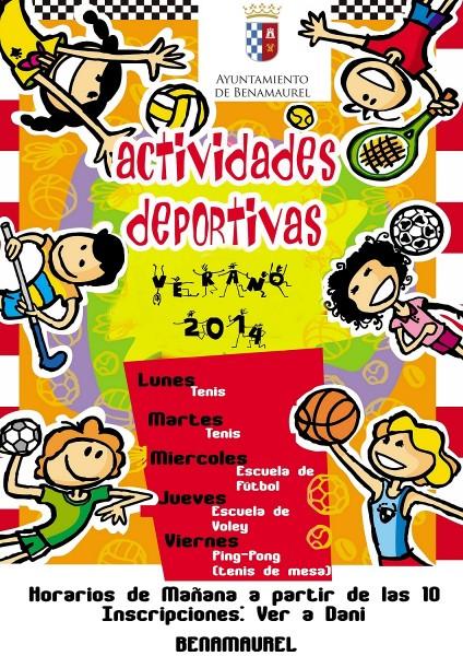 Actividades deportivas Benamaurel 2014 verano