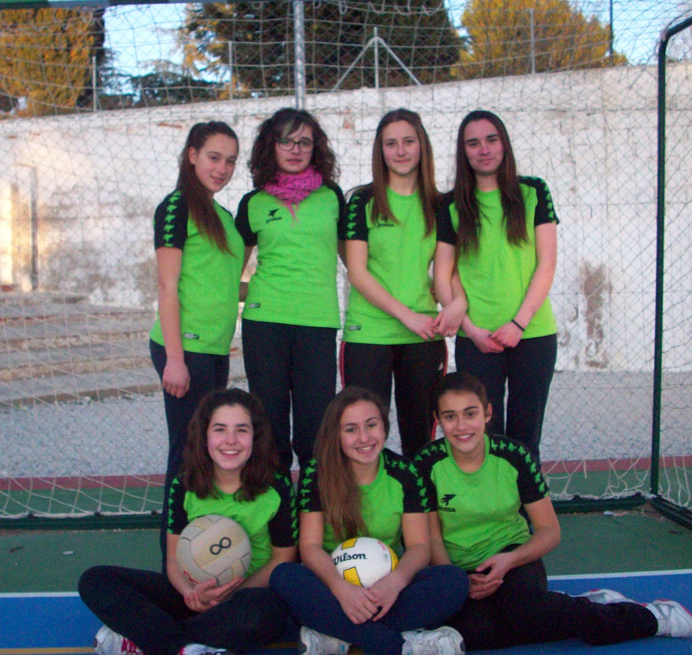 Equipo infantil femenino voley Benamaurel