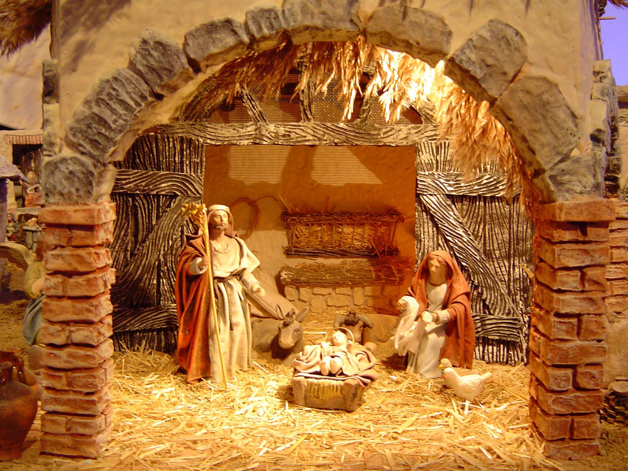... las actividades navideñas y entre ellas el concurso de belenes con