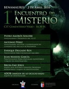 Cartel jornadas misterio Benamaurel