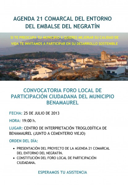 cartel foro benemaurel II